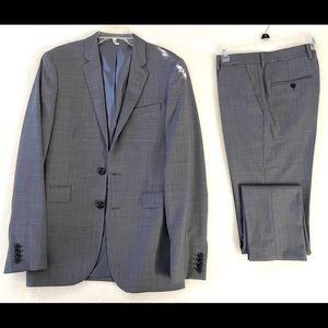 """Express """"Innovator"""" Two Piece Suit, Grey"""